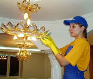 Мытье люстр в Пскове
