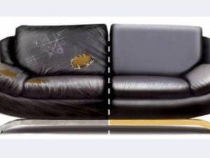 Перетяжка кожаного дивана в Пскове