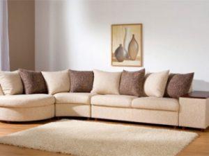 Перетяжка углового дивана на дому в Пскове
